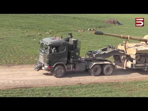 Թուրքիան մեծաքանակ զինտեխնիկա է փոխադրում Սիրիա